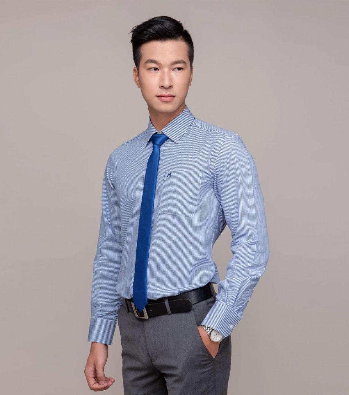 Mẫu đồng phục áo sơ mi công sở may sẵn